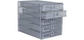 Cassettiera 5 cassetti Q-Connect 35x27x31 cm argento KF00834 Immagine del prodotto