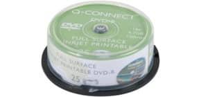 DVD-R Q-Connect Spindle 16x 120 min stampabile conf. da 25 pezzi - KF18021 Immagine del prodotto