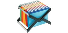 Supporto per cartelle sospese LUXOR 33 cm forma a X assortiti 10 cartelle - LUXOR 1 MX 10 P1 Immagine del prodotto