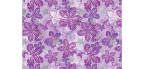 Fantasie Offset 50x70cm Metallic EULZER 08-0117 Blumen violett Produktbild