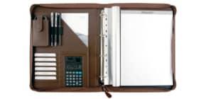 Schreibmappe Kunstleder braun Produktbild