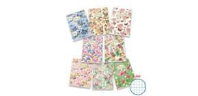 Quaderno a quadretti 42 fogli PIGNA Maxi Nature Flowers A4 4M assortiti 02298854M Immagine del prodotto