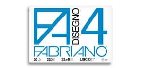 Album da disegno Fabriano F4 220 g/m² 33x48 cm 20 ff. lisci 05200797 Immagine del prodotto