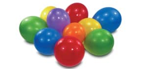 Luftballon 10ST uni fbg.sort. 6435 D20,3 cm Produktbild