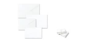 """Biglietti con buste Ellebi - Sadoch Dalmazia """"formato 9"""" 9x14 cm bianco Conf. 100 pezzi - 8309 Immagine del prodotto"""