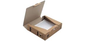 Archivbox Economy braun 8cm DONAU 7660001-02 Produktbild