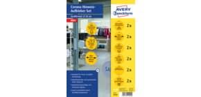 Hinweisetiketten Corona gelb Produktbild