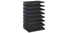 Sortiereinheit 8 Fächer A4 schwarz Produktbild