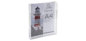 Prospekthalter A4hoch glasklar Produktbild