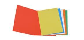 Confezione cartelle semplici, colore arancione, grammi 200, 50 pezzi Immagine del prodotto