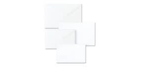 """Biglietti con busta Ellebi - Sadoch Dalmazia """"formato 4"""" 7,5x11 cm bianco Conf. 100 pezzi - 8304 Immagine del prodotto"""