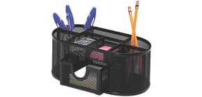 Portaoggetti Q-Connect 23,5x10x11,2 cm nero con cassetto - 7 scomparti KF18472 Immagine del prodotto