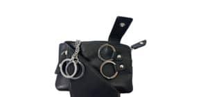 Schlüsseltasche Leder schwarz/ Produktbild