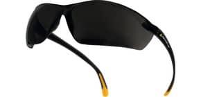 Occhiali Meya monoblocco Delta Plus policarbonato terminali in PVC antiscivolo fumè - MEIAFU Immagine del prodotto