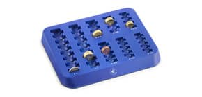 Vassoio portamonete Holenburg 8 scomparti 255x202x25 mm blu 3420B Immagine del prodotto