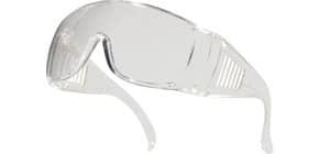 Occhiali Piton visitatori Delta Plus monoblocco policarbonato trasparente - LUCERNEIN100 Immagine del prodotto