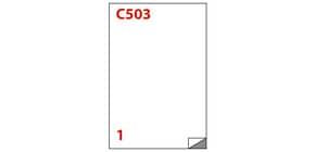 Etichette bianche MARKIN permanenti 210x297 mm senza margine conf. da 100 etichette - X210C503 Immagine del prodotto