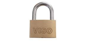 Lucchetto in acciaio con chiave in ottone Viso 20x30x7,5 mm oro CAD301SB Immagine del prodotto