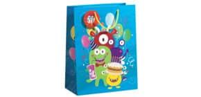 Geschenktragetasche Kind Monster blau 70010 12552 33,5x26x13,5cm Produktbild