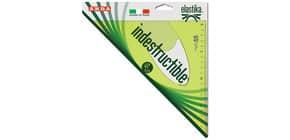 Squadra ARDA Linea Elastika plastica flessibile verde trasparente 45° cm 30 EL4530 Immagine del prodotto