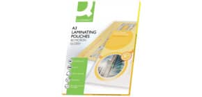Pouches per plastificatrici Q-Connect 2x80 µm finitura lucida A3 Conf. 100 pezzi - KF04122 Immagine del prodotto