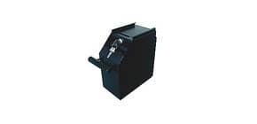 Cassetto portadenaro Holenbecky 102x190x225 mm in acciaio nero 3442 Immagine del prodotto