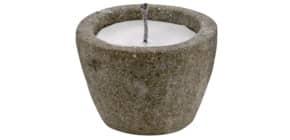 Kerze im Topf Lava konisch grau-elfenb. ProduktbildEinzelbildM