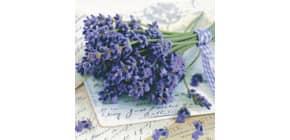 Motivserviette 33x33cm Lavendel HOME F. 211384 Produktbild