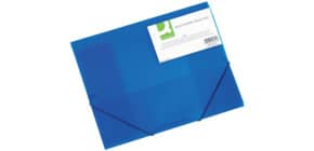 Cartellina a 3 lembi Q-Connect A4 ppl dorso 3 cm blu KF02312 Immagine del prodotto