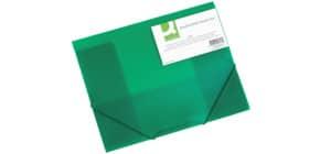 Cartellina a 3 lembi Q-Connect A4 ppl dorso 3 cm verde KF02313 Immagine del prodotto