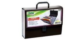 Valigetta portadocumenti Lebez 33x24,5x8 cm 25 scomparti ass. blu, nero e rosso 2580 Immagine del prodotto
