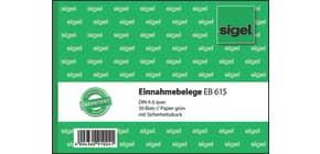 Kassen Einnahmebeleg A6q grün SIGEL EB615 50BL Produktbild