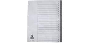 Ordnerregister 1-20 Polypropylen A4 grau Überbreite Q-CONNECT KF02295 Produktbild