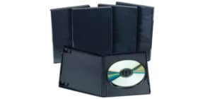 DVD Einzelhülle schwarz 5erPack Produktbild