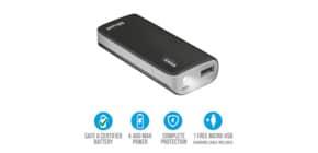 Caricatore portatile Powerbank 4400 Trust Primo nero 21224 Immagine del prodotto