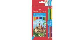 Farbstifte ECO 12+3 Bicolor sort FABER CASTELL 110312 Produktbild
