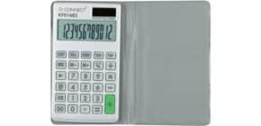 Calcolatrice tascabile solare e batteria Q-Connect - 12 cifre - grigio KF01603 Immagine del prodotto