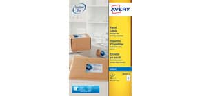 Etichette bianche per indirizzi per pacchi AVERY 99,1 x 67,7 mm 25 fogli - J8165-25 Immagine del prodotto