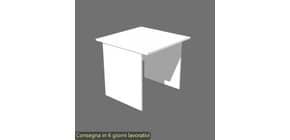 Scrivania Artexport linea Presto 80x80x72 cm fianchi melanimico spess. 22 mm bianco - 001 + 60111/3 Immagine del prodotto