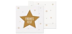 Weihn.Zelltuchserviette 33x33cm LA VIDA 130143 Frohes Fest Produktbild