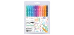 Faserschreiber Duo 12ST Pastellfarben Produktbild
