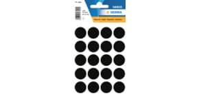 Haftetiketten D19mm schwarz Produktbild