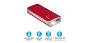 Caricatore portatile Powerbank 4400 Trust Primo rosso 21226 Immagine del prodotto