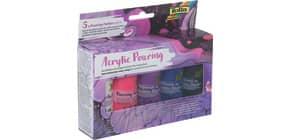 Bastelfarbe Pouring 5ST sort. FOLIA 35119 Intensivtöne 60ml Produktbild