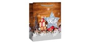 Weihn.Geschenktragetasche Päckchen 06-0443 23x19x10,5cm  Produktbild