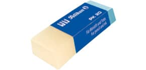 Kunststoffradierer blau/weiß Produktbild