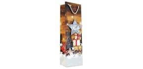 Weihn.Flaschentragetasche Päckchen 06-0444 40x12x9cm  Produktbild