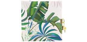 Tagebuch m.Schloss Tropical weiß Produktbild
