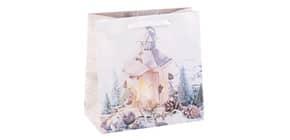 Weihn.Geschenktragetasche Laterne 06-0370 16x16x7,5cm Produktbild