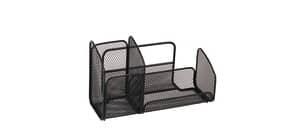 Portaoggetti da scrivania ALBA Mesh 21x10x12,4 cm metallo traforato nero MESHTRI N Immagine del prodotto